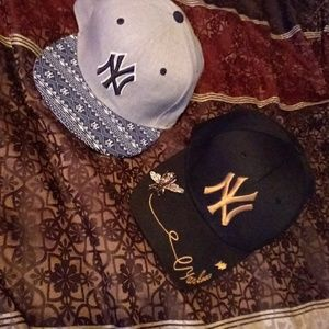 Both NY hats